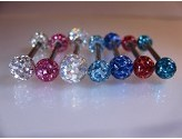 1.6mm Titanium Barbell with Procosia Jewelled Balls Contact Lens